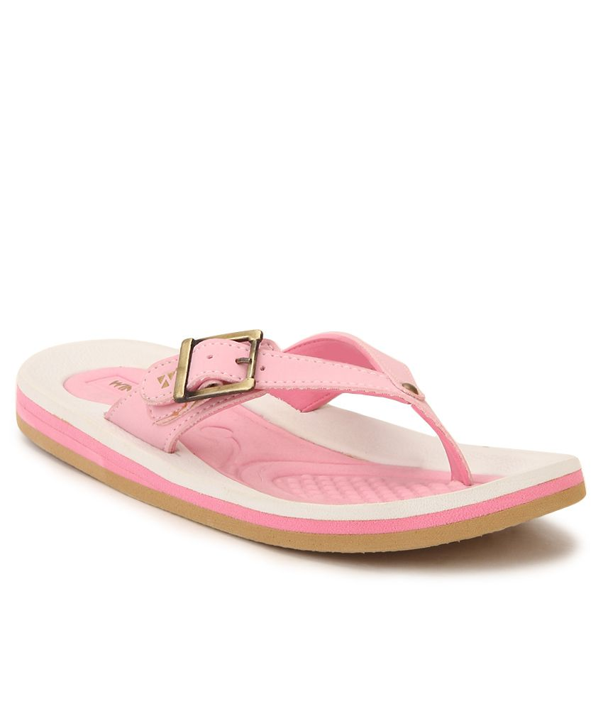 Windwalker Rumba 4 White & Pink Flip Flops