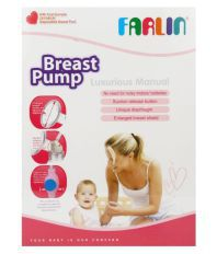 Farlin Pink Plastic Manual Breast Pump