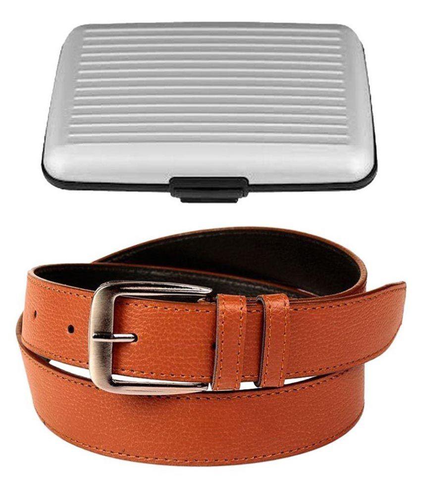 SanDisk Brown Faux Leather Formal Belts