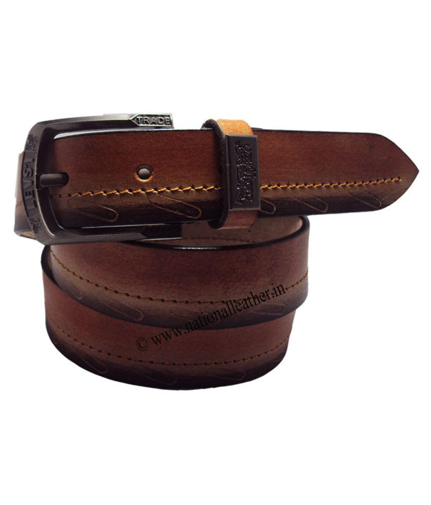 National Leathers Brown Belt For Men
