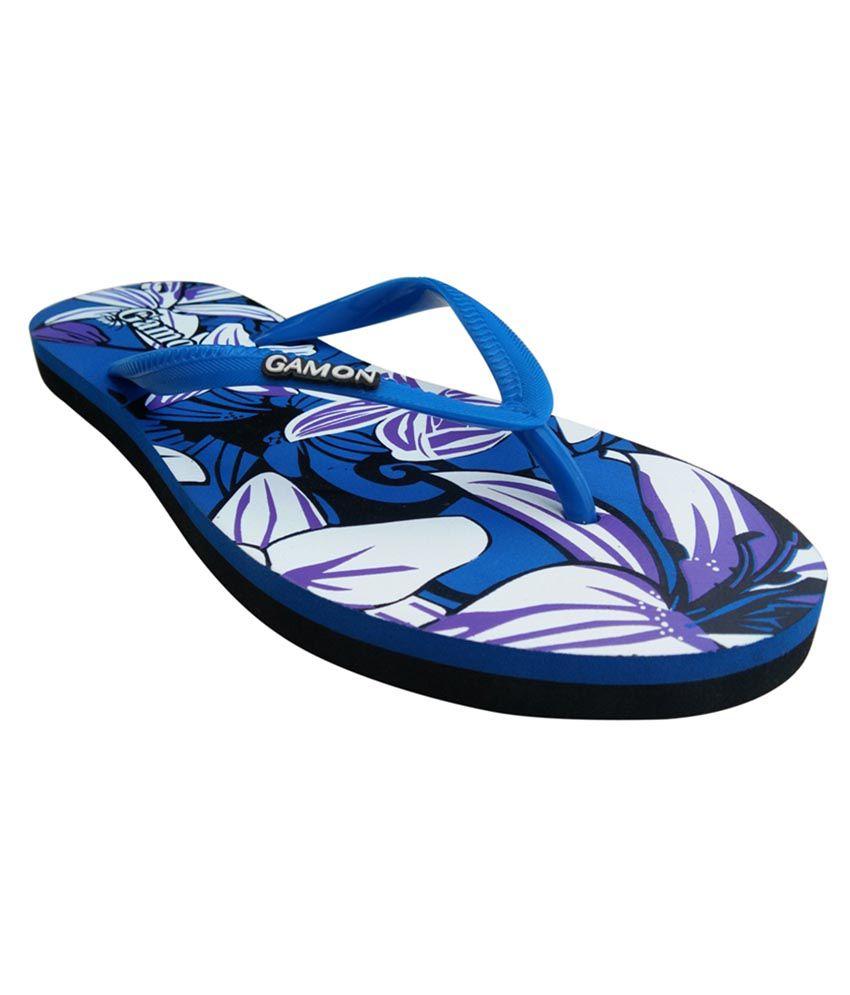 Gamon Blue Slippers