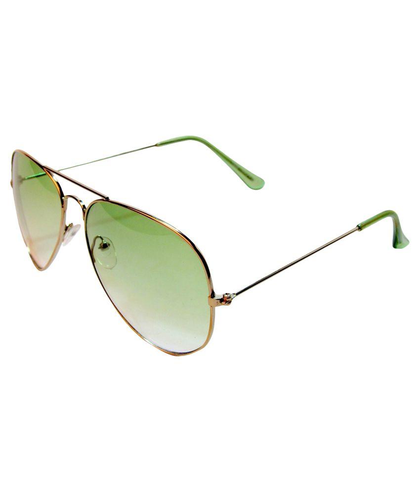 Veera Green Aviator Sunglasses ( GOG-G02-0004 )