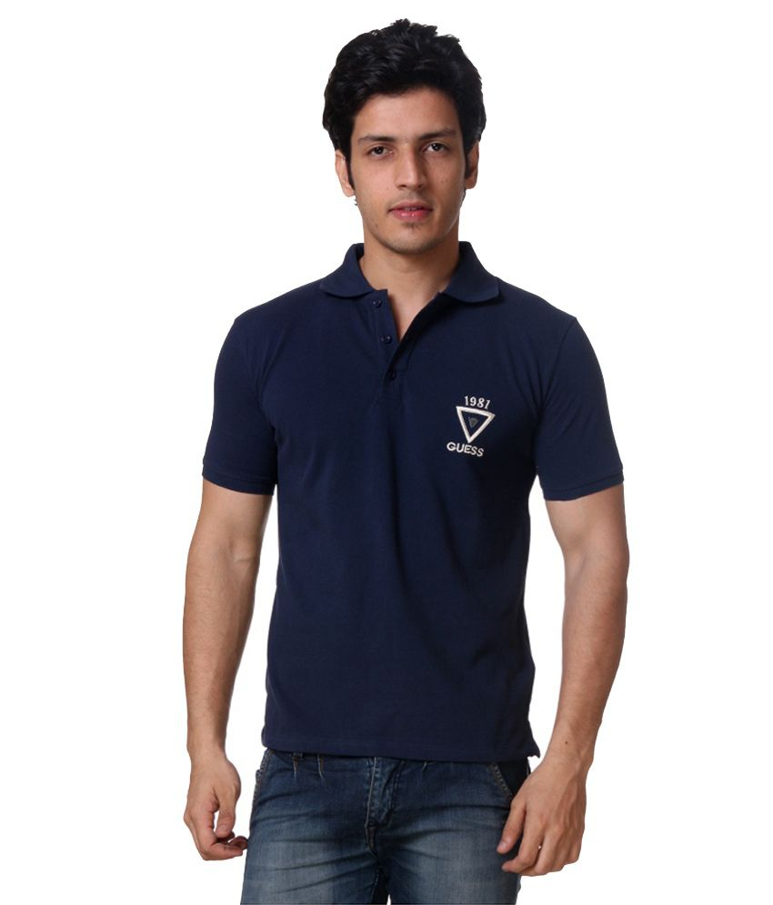 63bfa550 Guess Navy Regular Fit Polo T Shirt - Buy Guess Navy Regular Fit Polo T  Shirt Online at Low Price - Snapdeal.com