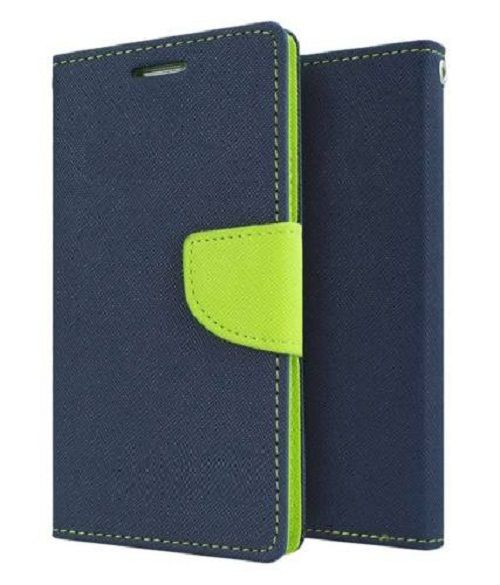 Samsung Galaxy Note Flip Cover by Goospery - Blue