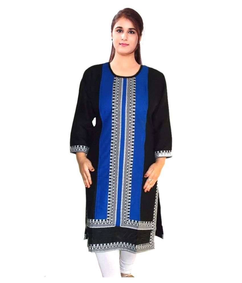 Jaishvi Multicoloured Rayon Straight Kurti
