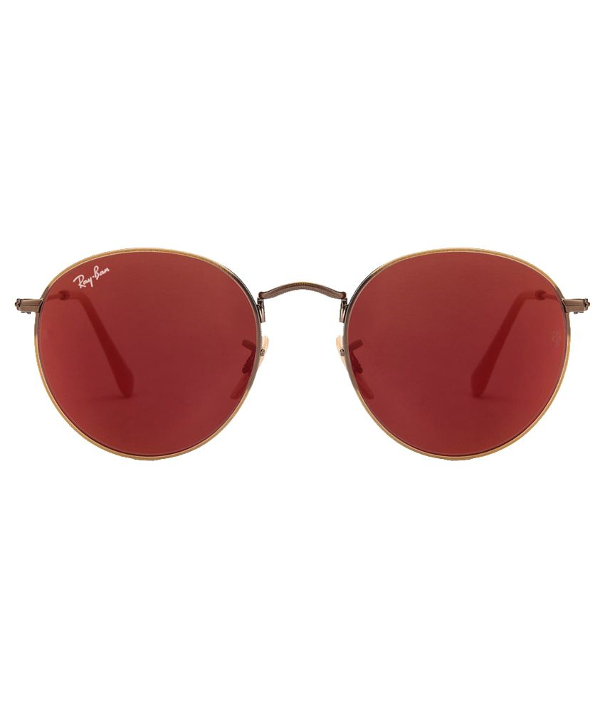 967776f125 Ray-Ban Red Round Sunglasses (RB3447 167 2K 50) - Buy Ray-Ban Red ...