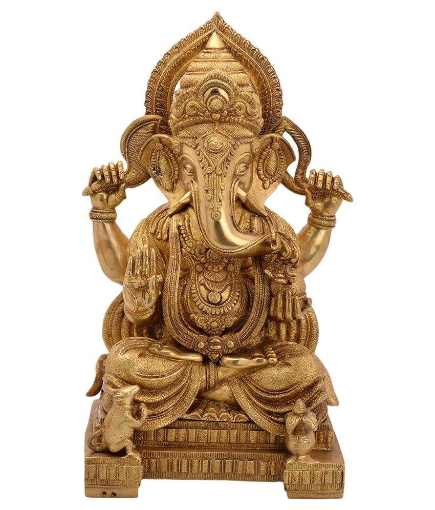 Bharathaat Ganesha Brass Idol