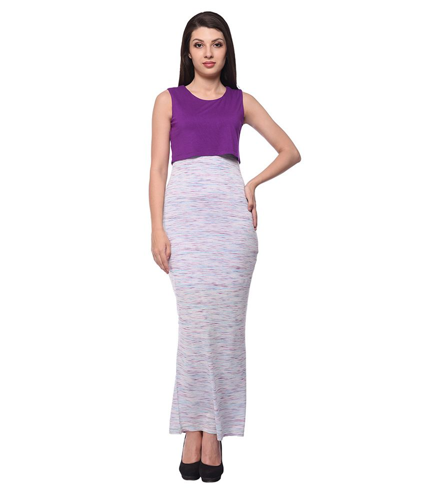 ae9250014b4c Nineteen Purple Cotton Dresses - Buy Nineteen Purple Cotton Dresses Online  at Best Prices in India on Snapdeal