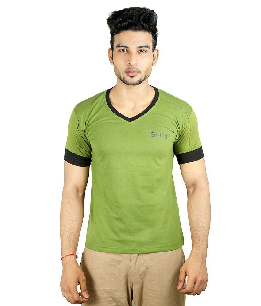 Spur Green V-Neck T-Shirt