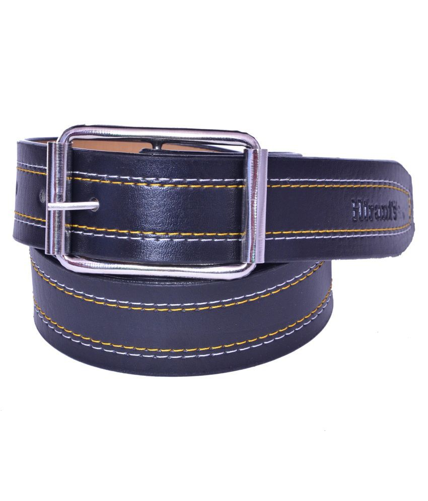 Sandisk Black Faux Leather Belt