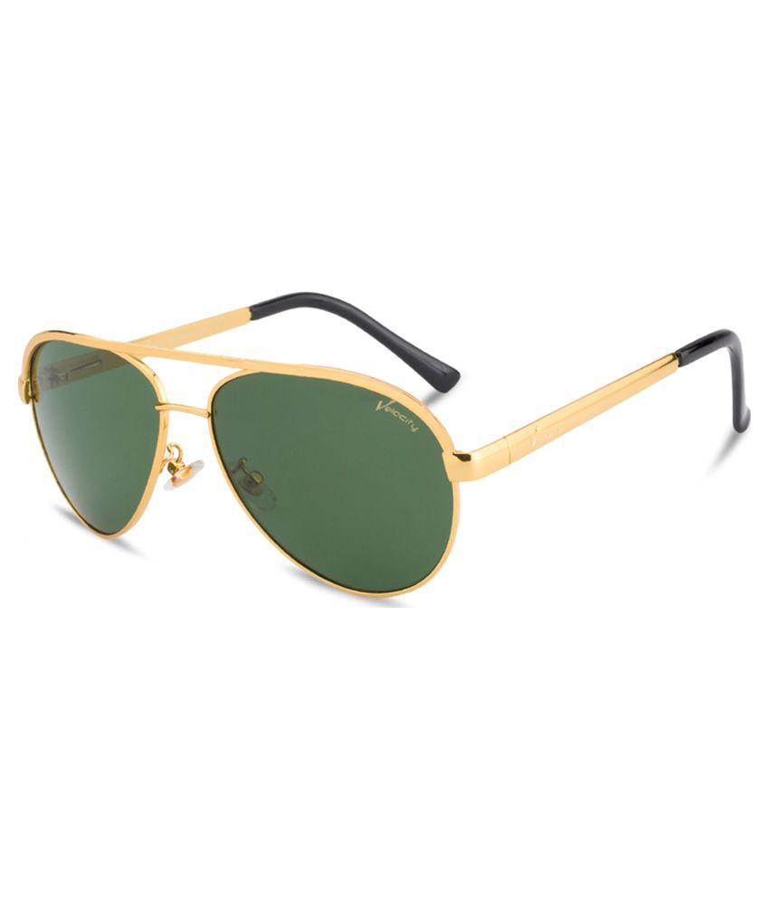 Velocity Black Aviator Sunglasses ( VC49 )