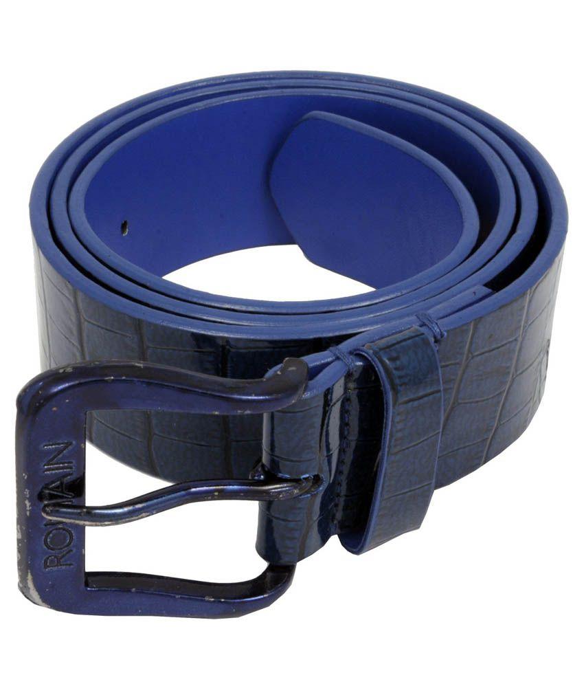 WOAP Blue PU Casual Belts