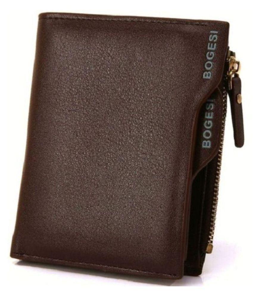 Bogesi Brown Casual Short Wallet