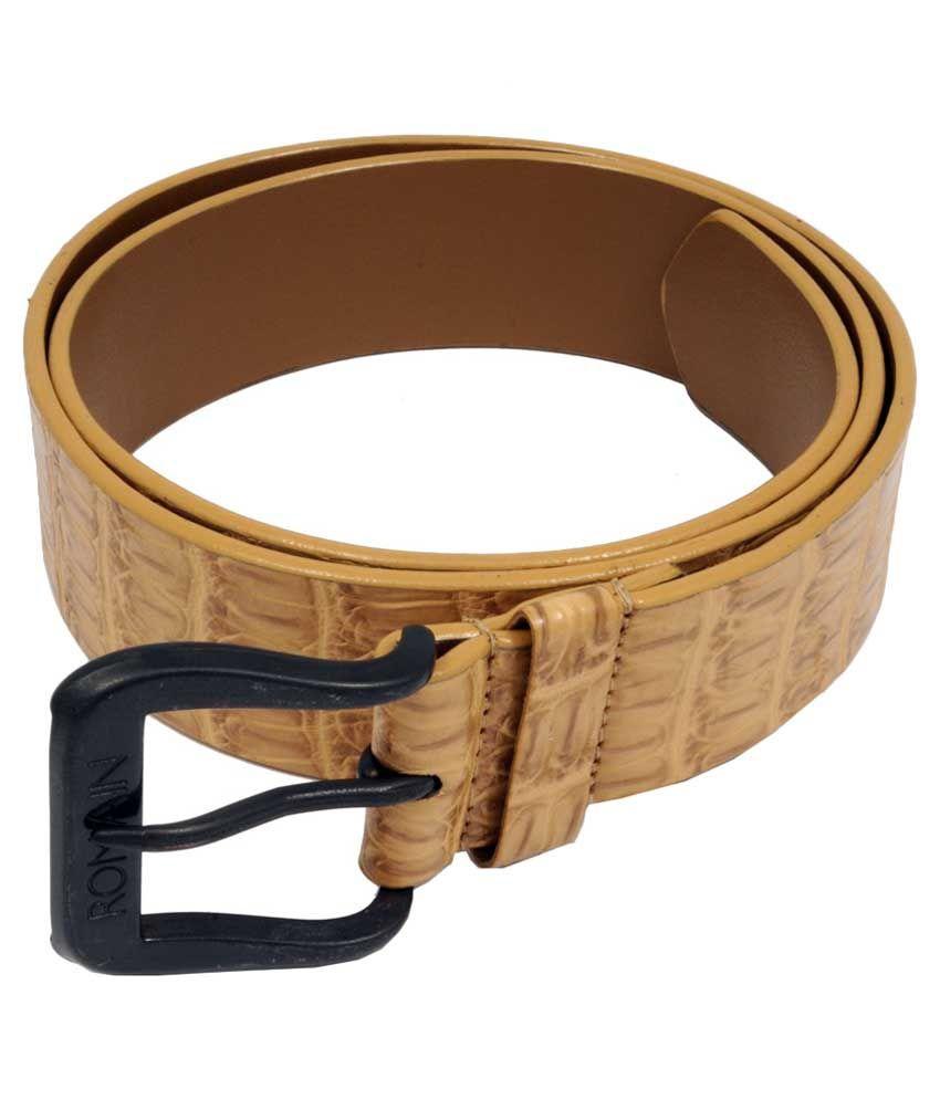 WOAP Beige PU Casual Belts