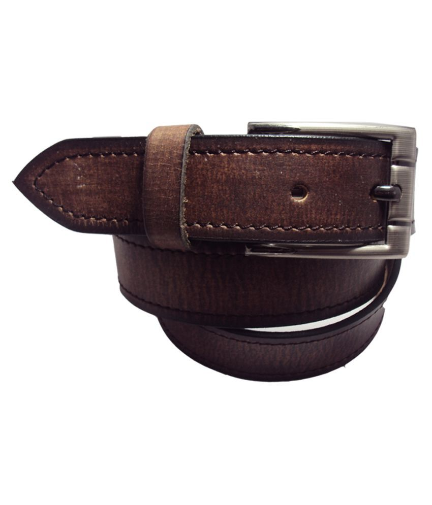 National Leathers Brown Leather Casual Belts