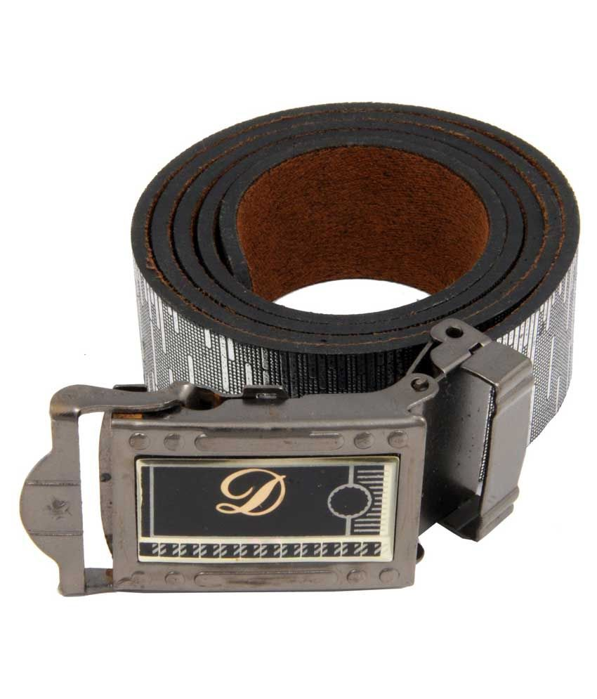Woap Gray Leather Casual Belts