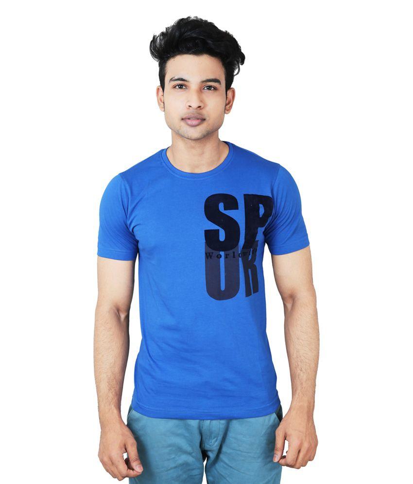 Spur Blue Round T-Shirt