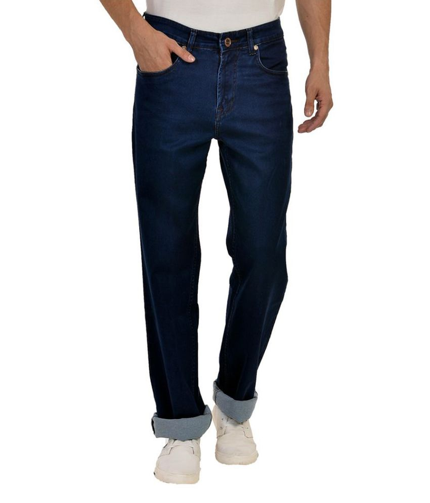 Wert Jeans Blue Straight Solid