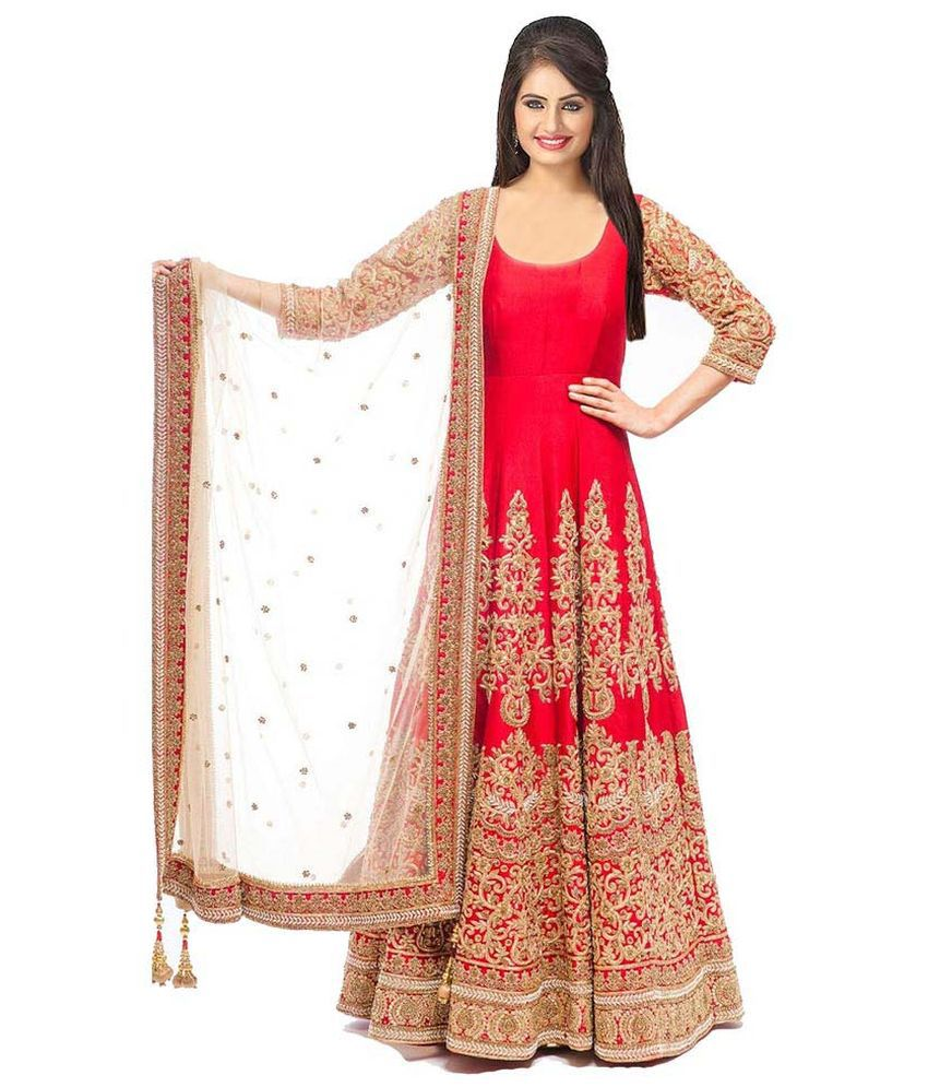 80dad64c4bc Siddeshwary Fab White and Beige Bangalore Silk Anarkali Gown Semi Stitched  Dress Material - Buy Siddeshwary Fab White and Beige Bangalore Silk Anarkali  Gown ...