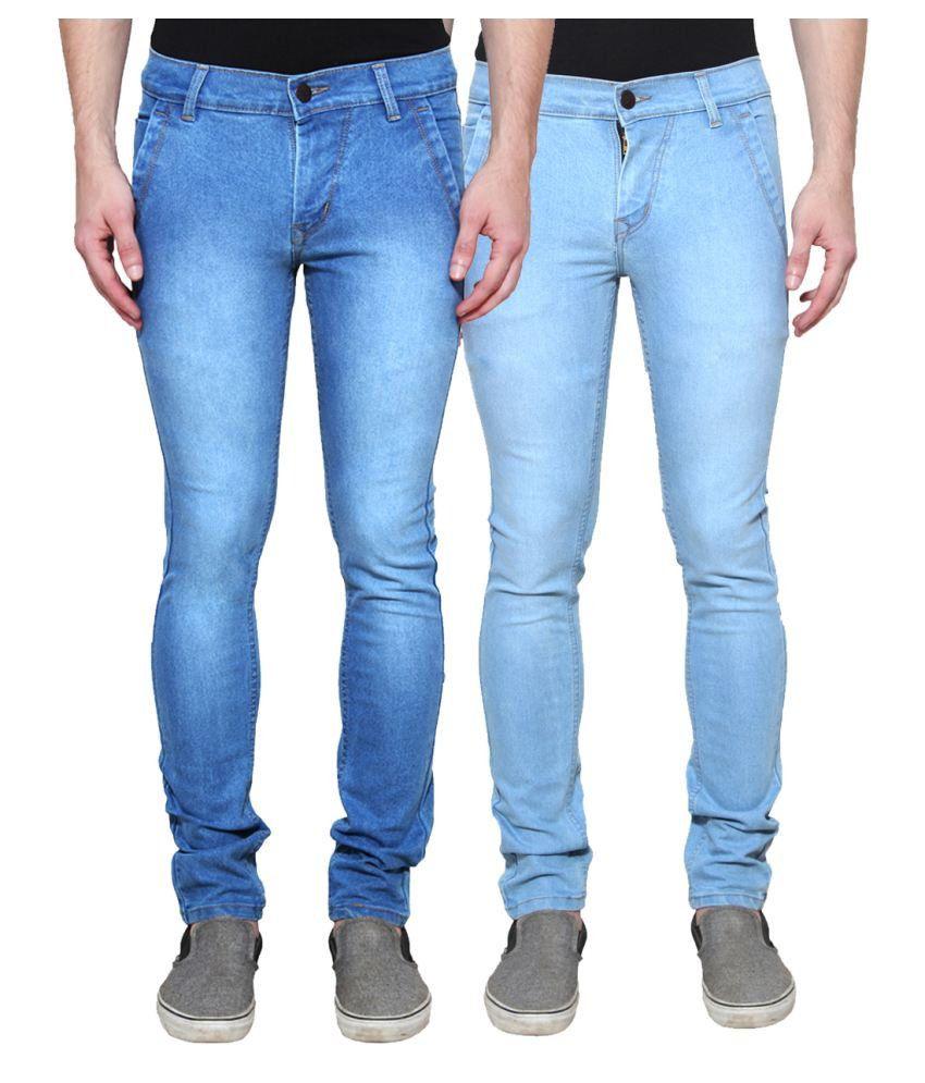 Ansh Fashion Wear Blue Straight Solid
