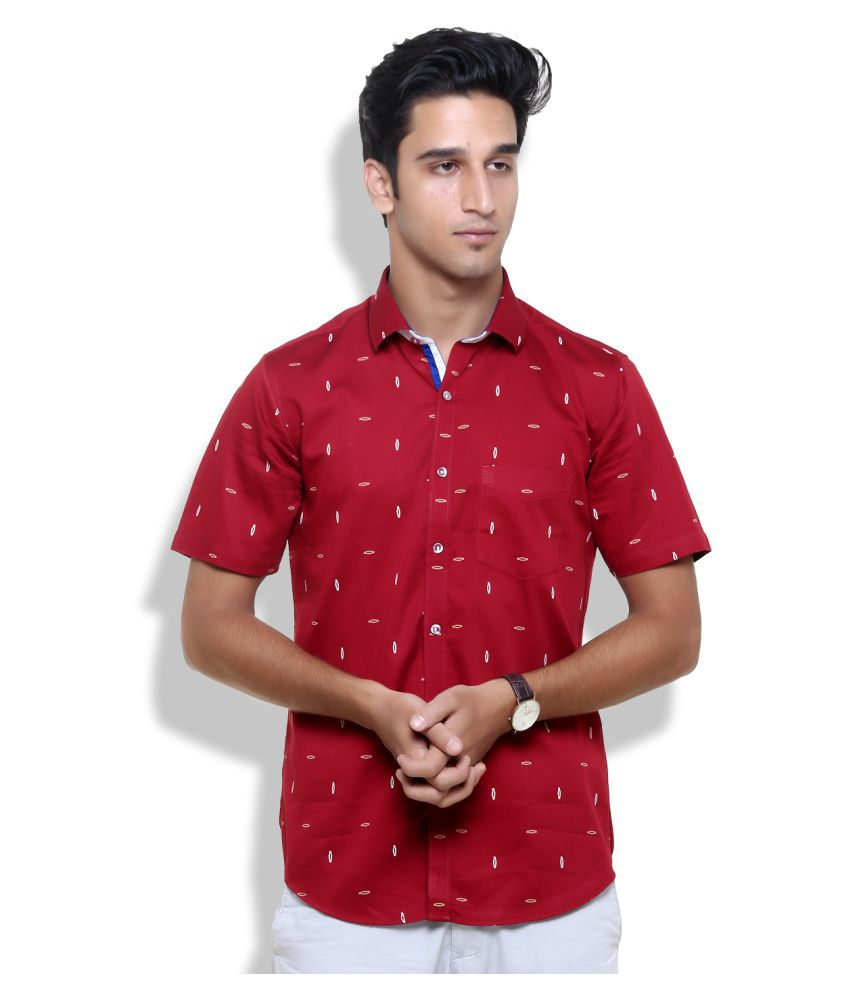 bbb6d46a898 Botticelli Red Formal Regular Fit Shirt - Buy Botticelli Red Formal Regular  Fit Shirt Online at Best Prices in India on Snapdeal