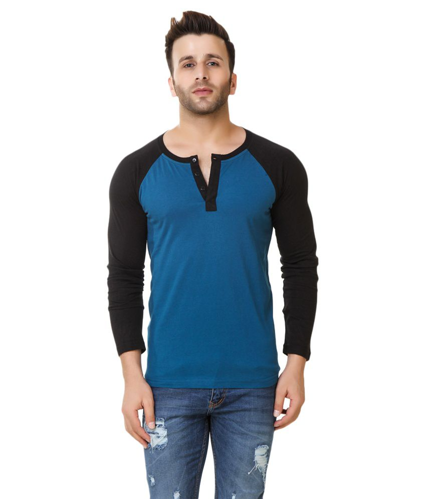Fabstone Collection Blue Henley T-Shirt