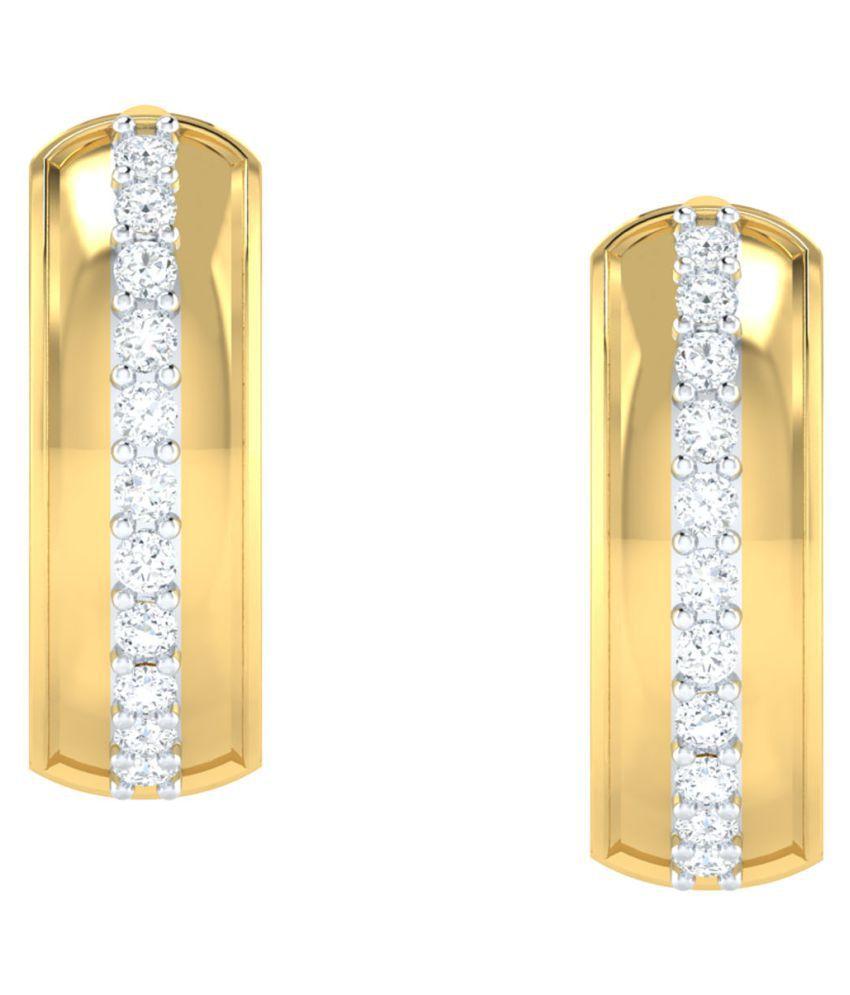 Jewellery Bazaar 18k Yellow Gold Diamond Balis