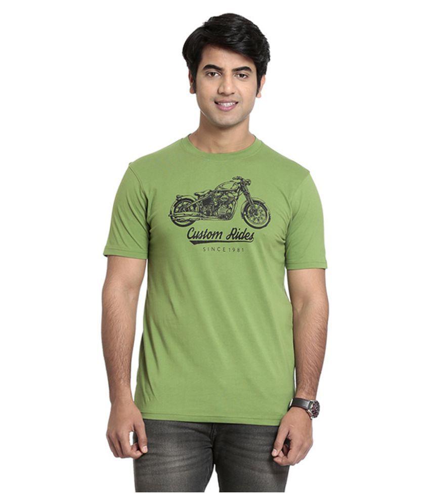 Seven Green Polyester T-Shirt