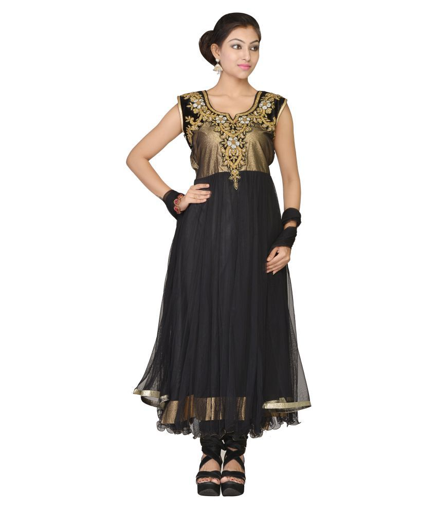 VLS Multicoloured Net Anarkali Salwar Suit