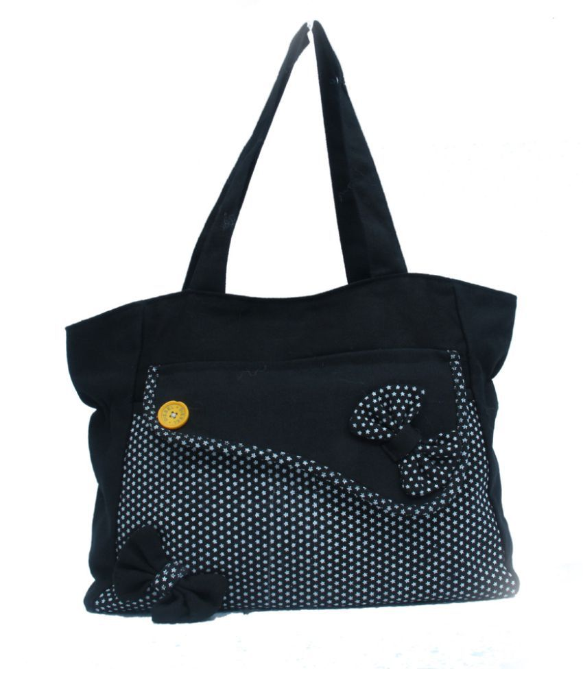 Arip Black Canvas Shoulder Bag