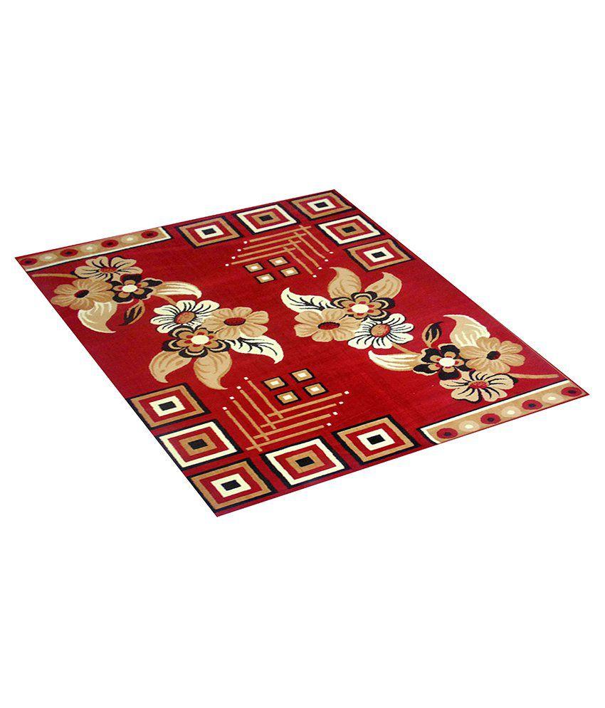 Furnishingland Multi Wool Carpet Floral 4x6 Ft.