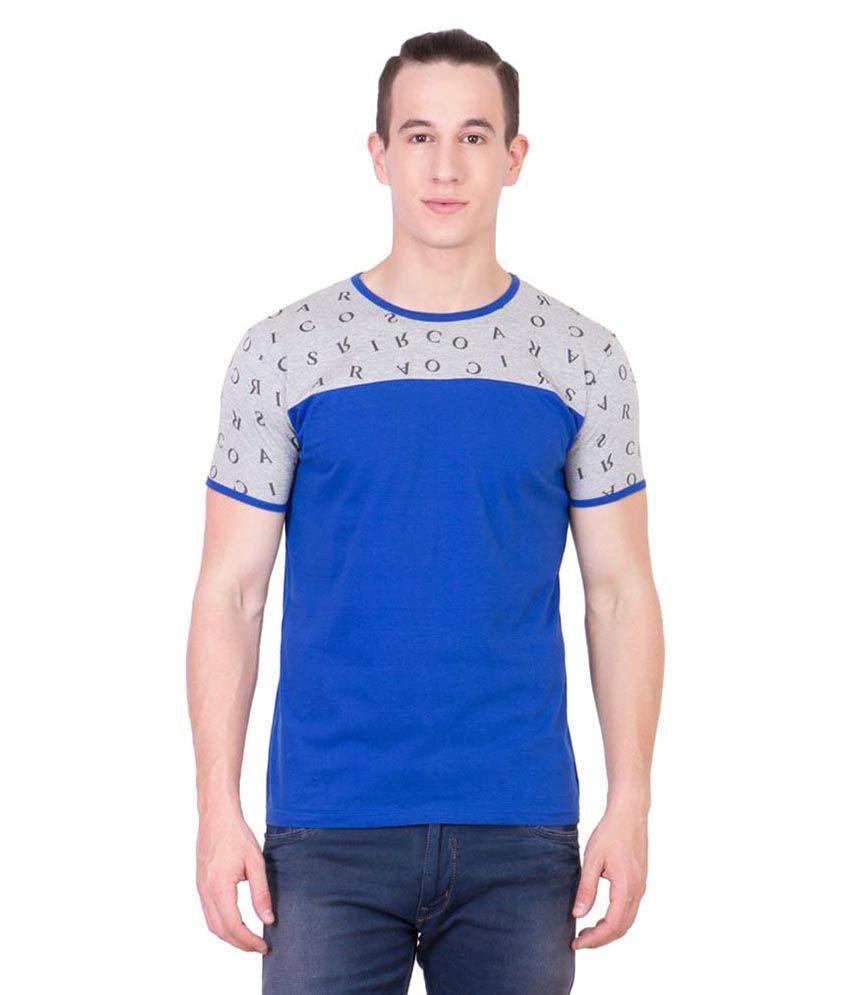 American-Elm Blue Round T-Shirt