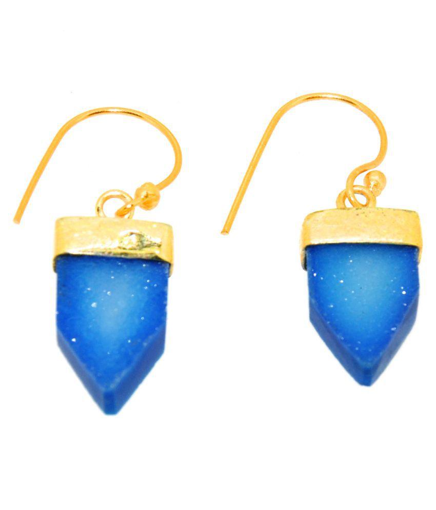 Casa De Plata Blue Hanging Earrings