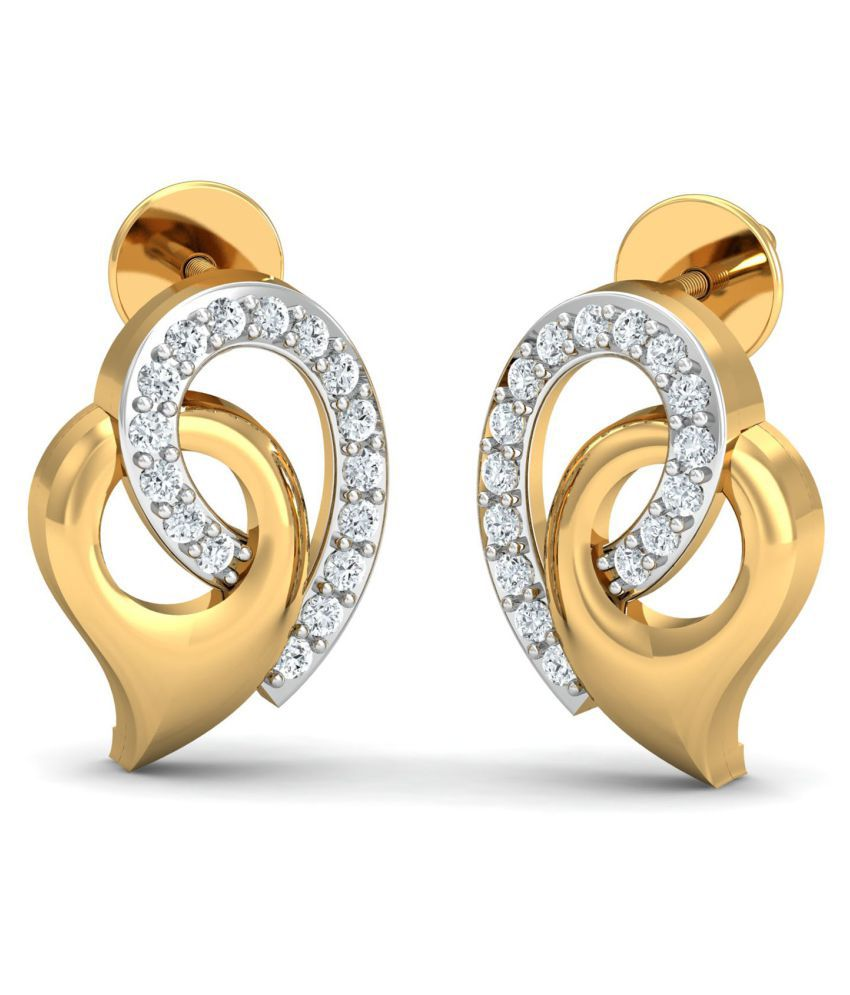 Jewellery Bazaar 18k Gold Diamond Studs