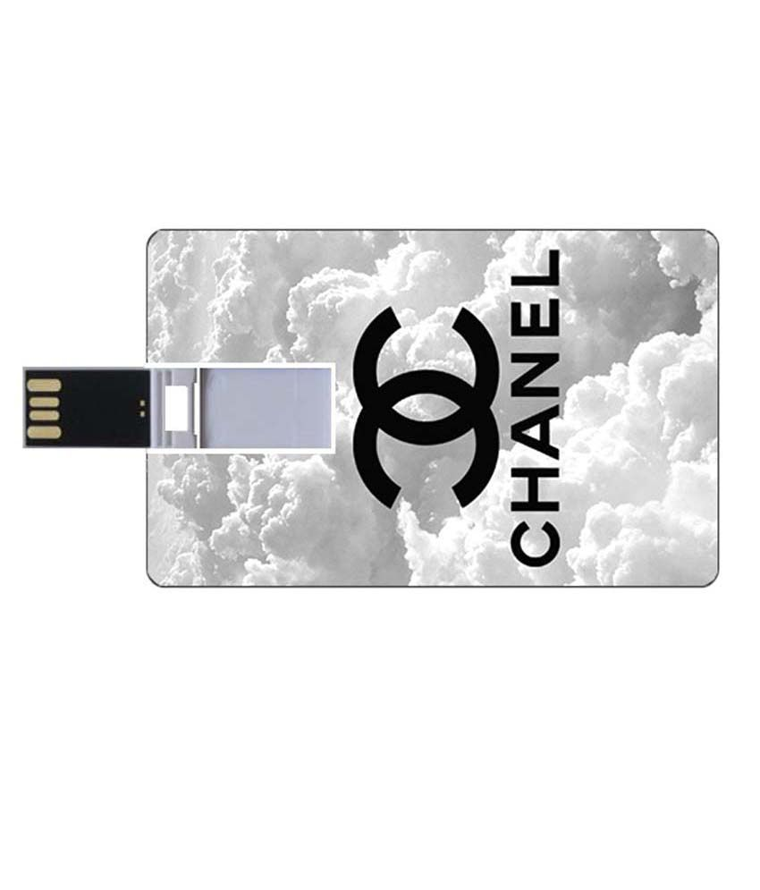 Youberry Credit Card Shape Pendrive Credit Card Shape 8GB USB 2.0 Fancy Pendrive White
