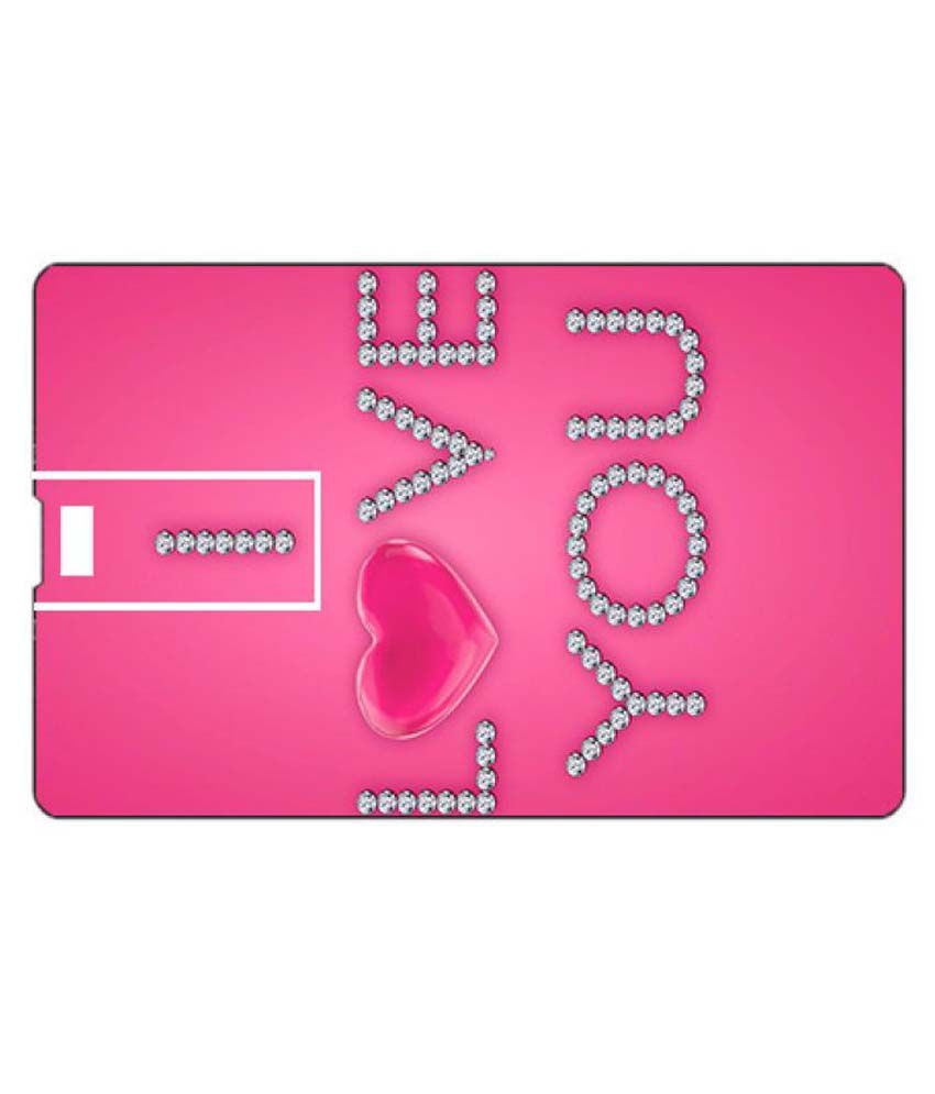 Youberry Credit Card Shape Pendrive Credit Card Shape 32GB USB 2.0 Fancy Pendrive Pink