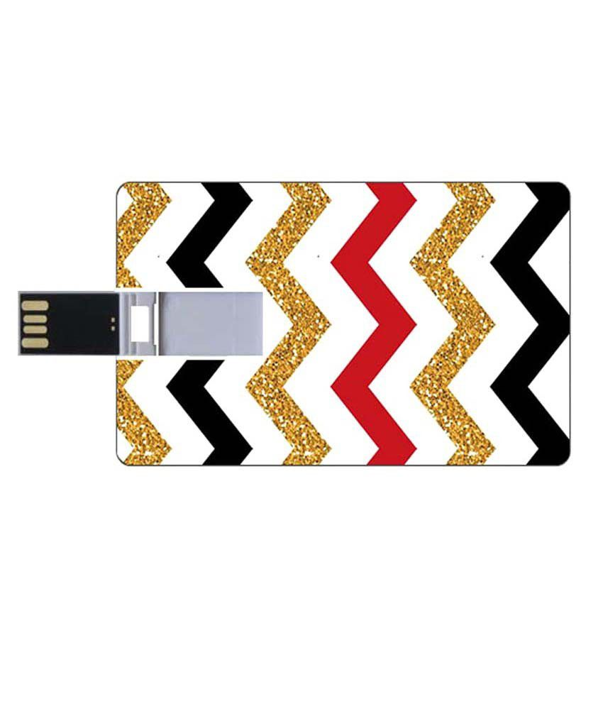 Youberry Credit Card Shape Pendrive Credit Card Shape 8GB USB 2.0 Fancy Pendrive Multicolour
