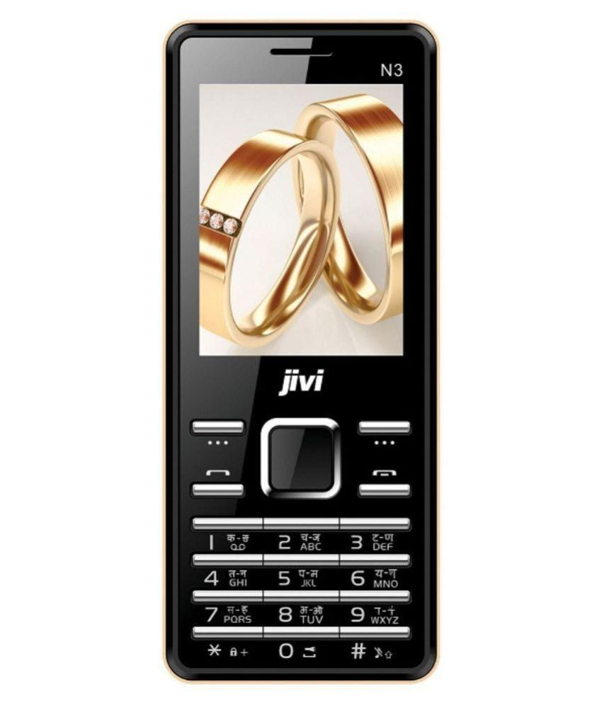 Jivi N3 Black-Golden 4GB and Below Black