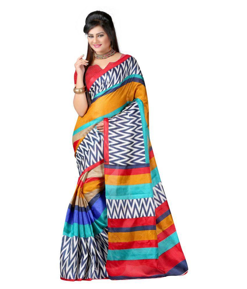 Bansy Fashion Multicoloured Georgette Saree