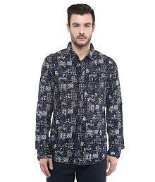 Mufti Blue Slim Fit Shirt
