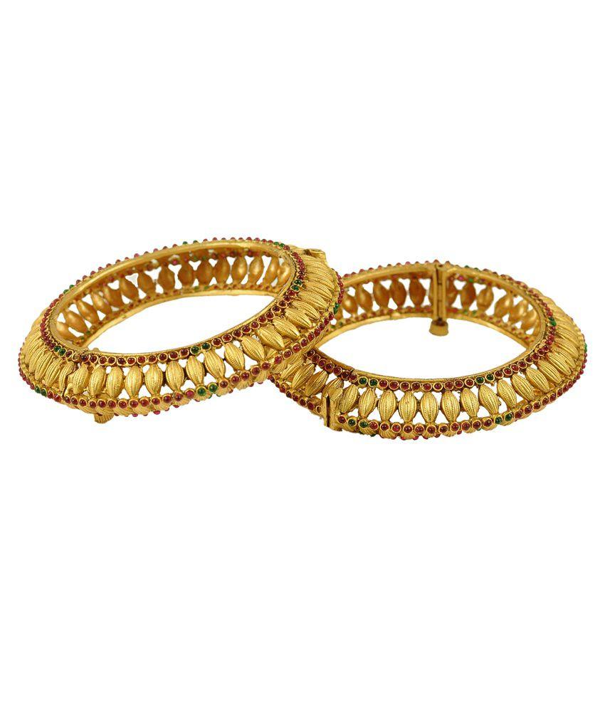 Kalyani Covering Golden Bangles - Set of 2