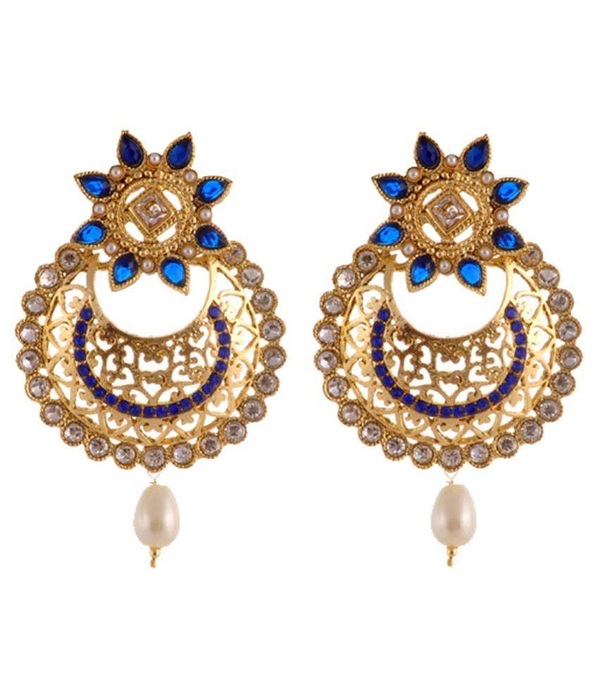 Sewad Crystal Studded Multicolour Earrings