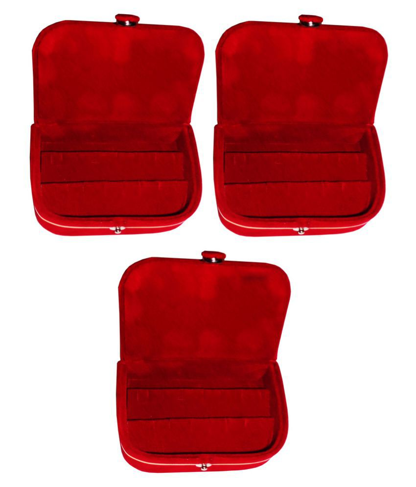 Abhinidi Red Earrings Boxes - Pack of 3
