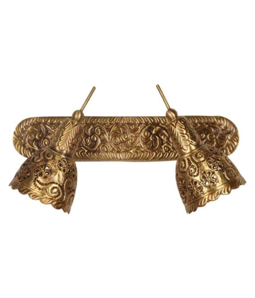 Fos Lighting Brass Spot Wall Light Gold