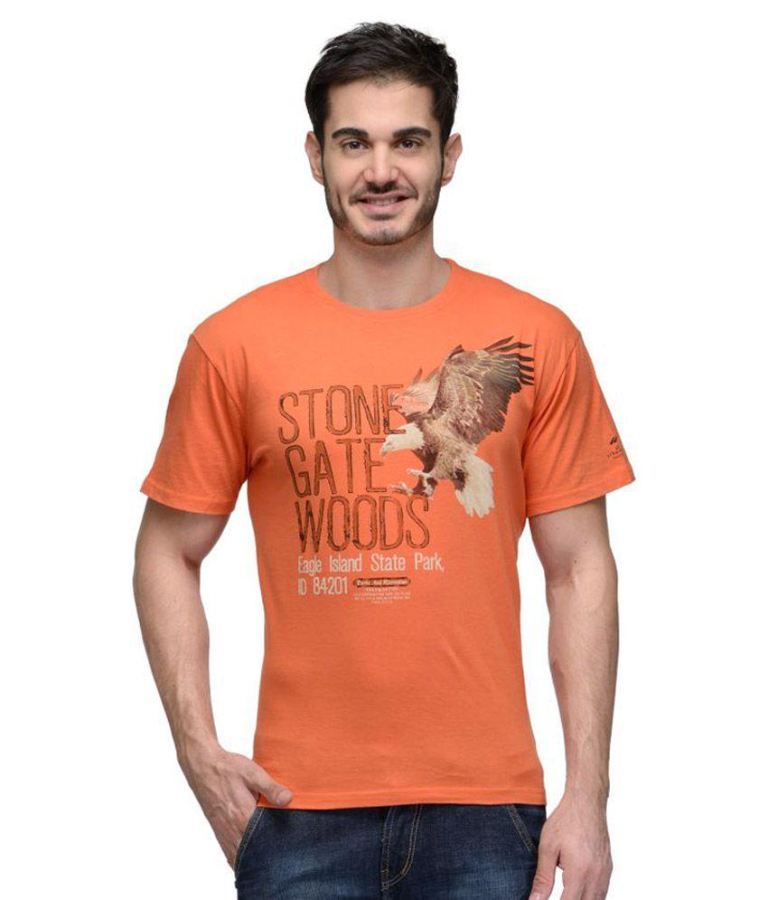 Urban Glory Orange Round T-Shirt
