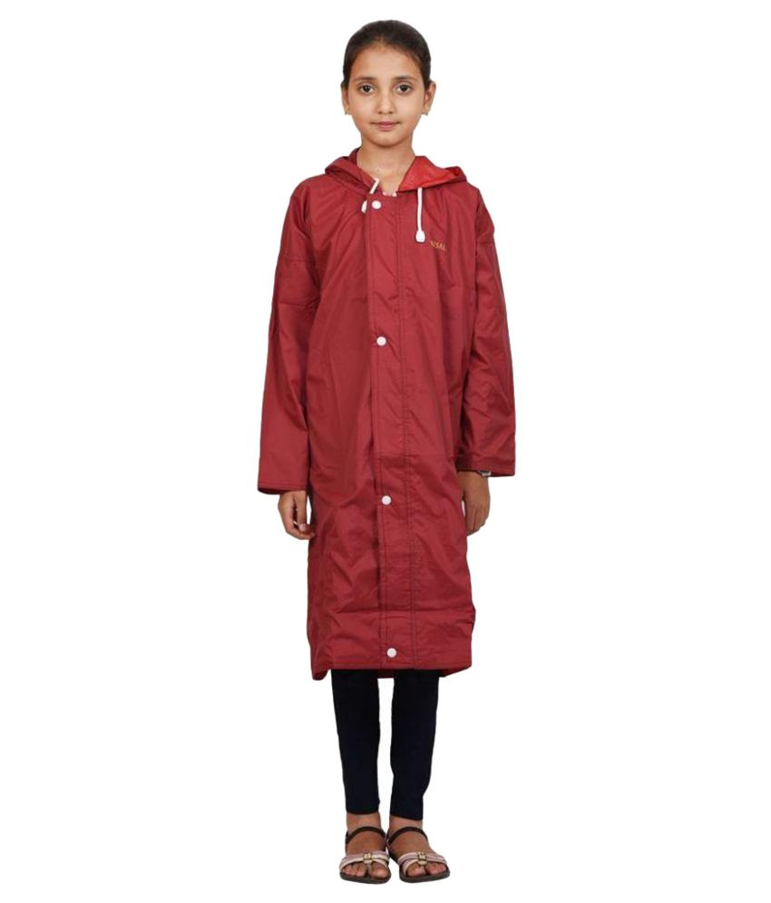 Versalis Maroon Polyester Raincoat