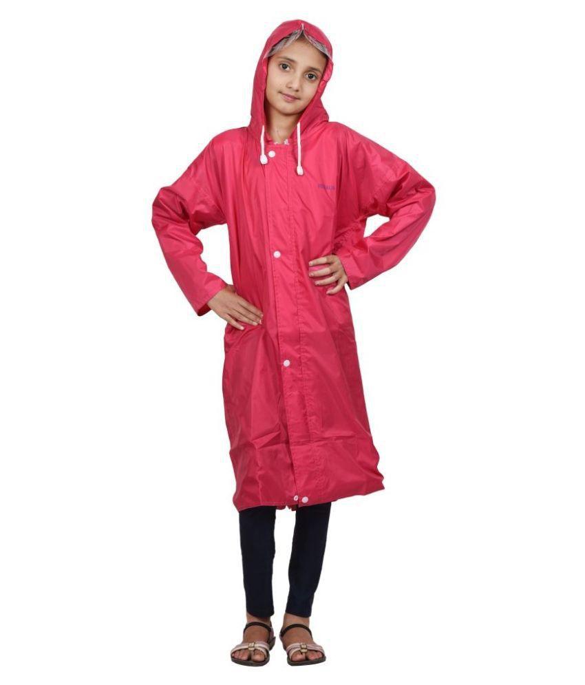 Versalis Pink Polyester Raincoat