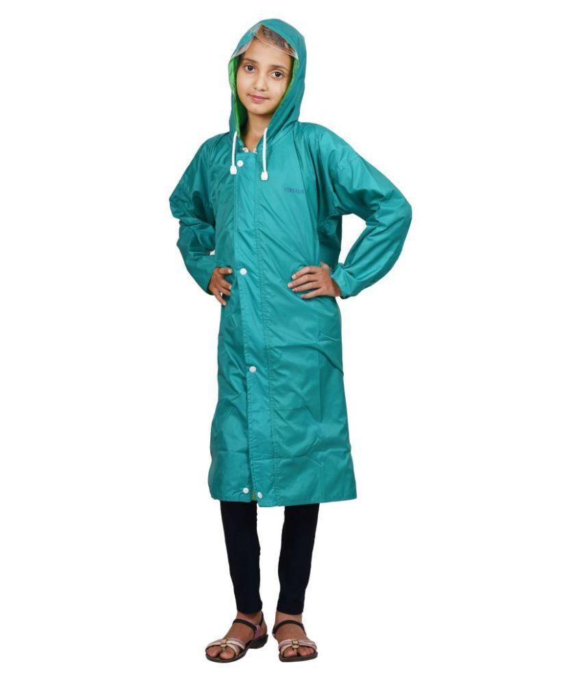 Versalis Turquoise Polyester Raincoat