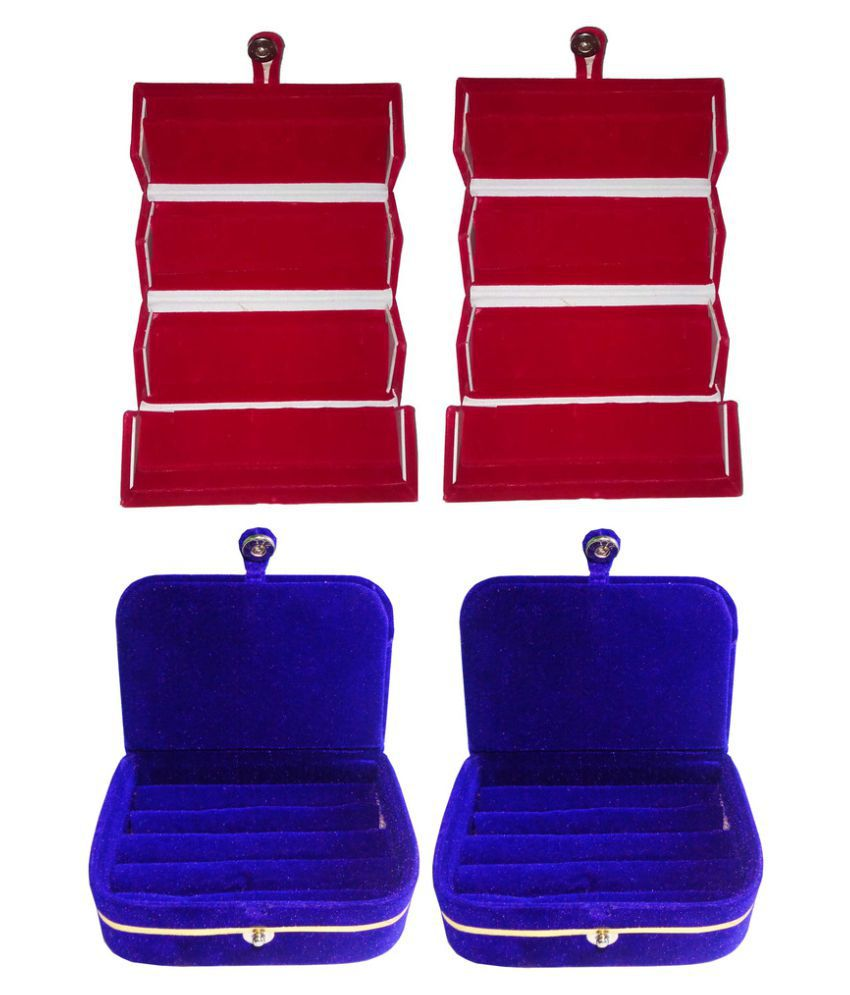Abhinidi Combo of Multicolour Two Earrings and Two Ring Boxes