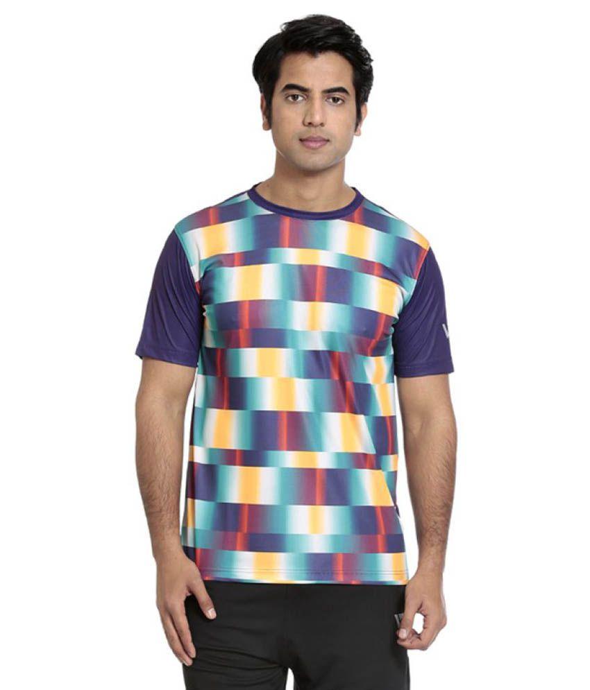 Seven Purple Polyester T-Shirts
